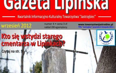 """Wrześniowy nr """"Gazety Lipińskiej"""" Towarzystwa """"Jastrzębiec"""""""