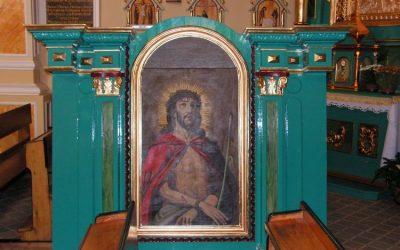 Drugi ołtarz boczny zabytkowego kościoła w Lipinkach