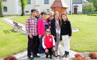 Rodzina Gondek z Brazylii z wizytą w Lipinkach