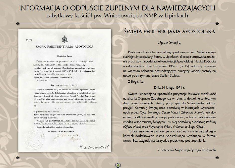 """""""Jastrzębiec"""" ufundował tablicę w zabytkowym kościele w Lipinkach"""